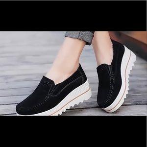 Shoes - Black Platform Shoes. Cute and Comfy! Size 37